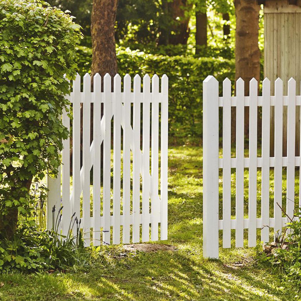 Gartenzaun Holz Skagen Weiss 120cm