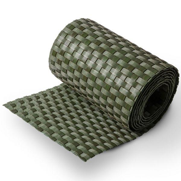 Polyrattan Sichtschutzstreifen (PE), grün-braun, grob