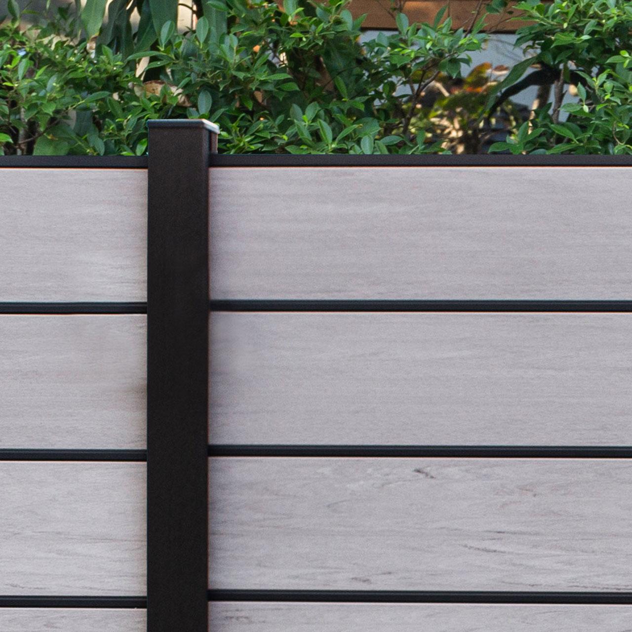 Bpc Sichtschutz Steckzaun Solid Xl Mit Alu Dekorleisten Bicolor
