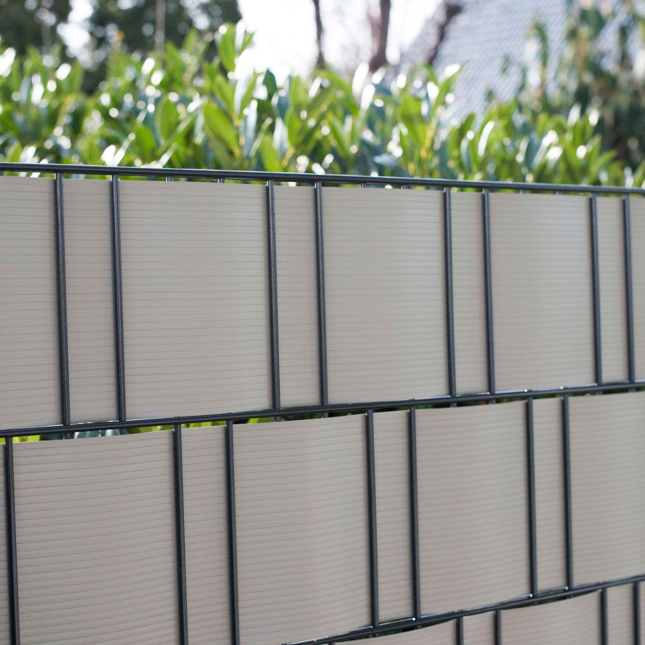 PVC Sichtschutzstreifen Doppelstabmattenzaun aluminium