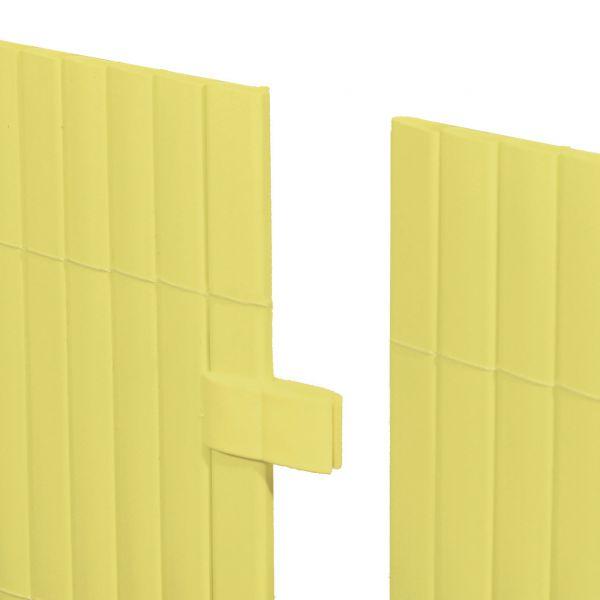 Mattenverbinder für Sichtschutzmatte Rügen, pastellgelb