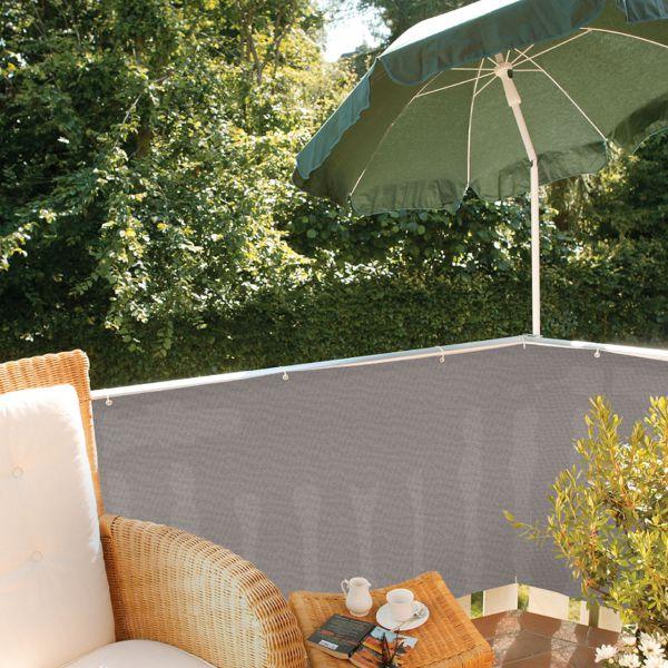 balkonbespannung pe classic grau sichtschutz. Black Bedroom Furniture Sets. Home Design Ideas