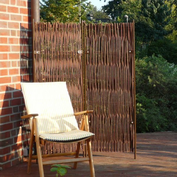 Paravent skagen 2 teilig weide sichtschutz for Garten paravent bambus