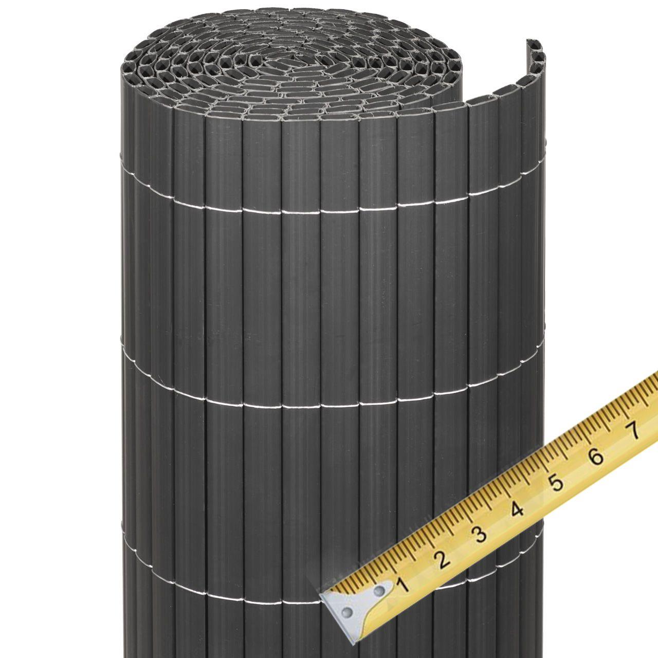 Sichtschutzmatte PVC Kunststoff Meterware Rügen anthrazit