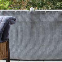 Balkonverkleidung Kunststoffgeflecht, silber-anthrazit Höhe x Breite:75 x 300 cm