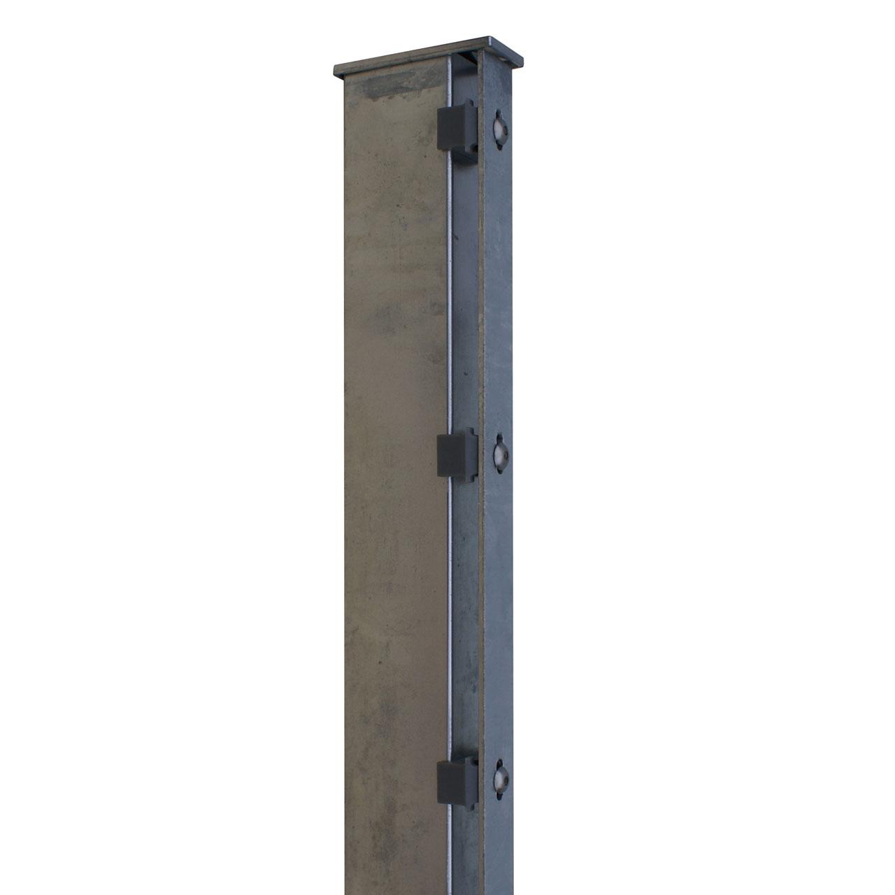 Zaunpfosten für Sichtschutzstreifen 180cm verzinkt