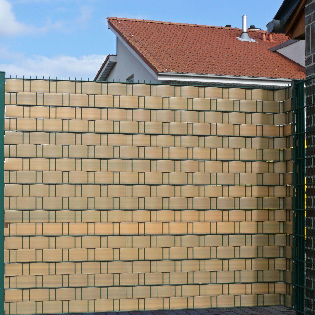 Sichtschutzstreifen Hart PVC Woodline teak