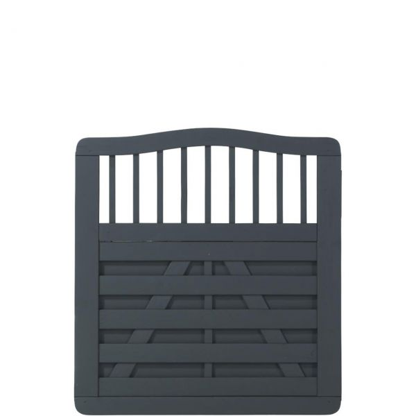 Holz Sichtschutz-Zaun, Ronda anthrazit