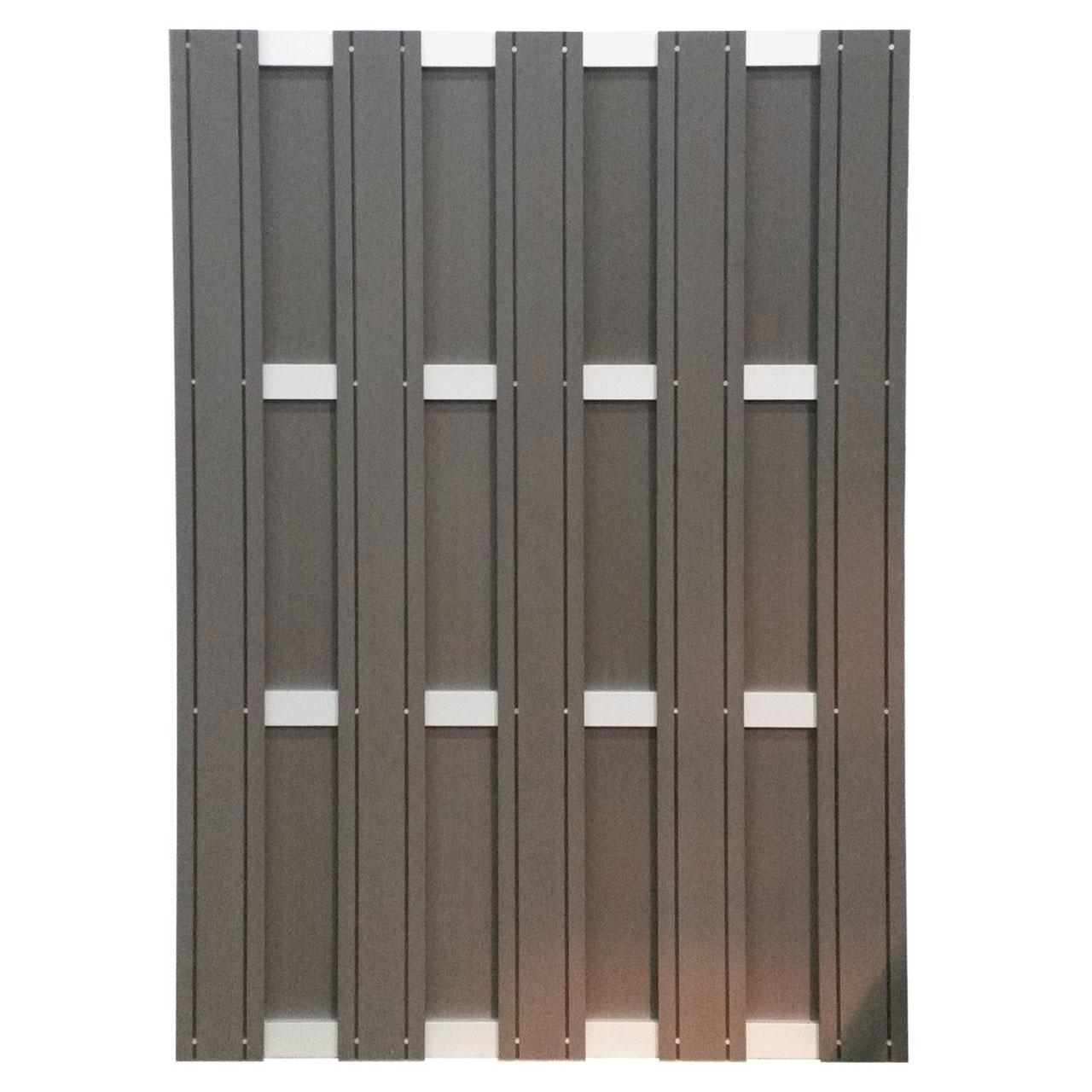 wpc sichtschutzzaun element mit alu querleisten anthrazit. Black Bedroom Furniture Sets. Home Design Ideas
