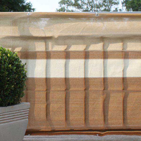 balkonbespannung pe design terrakotta beige sichtschutz. Black Bedroom Furniture Sets. Home Design Ideas