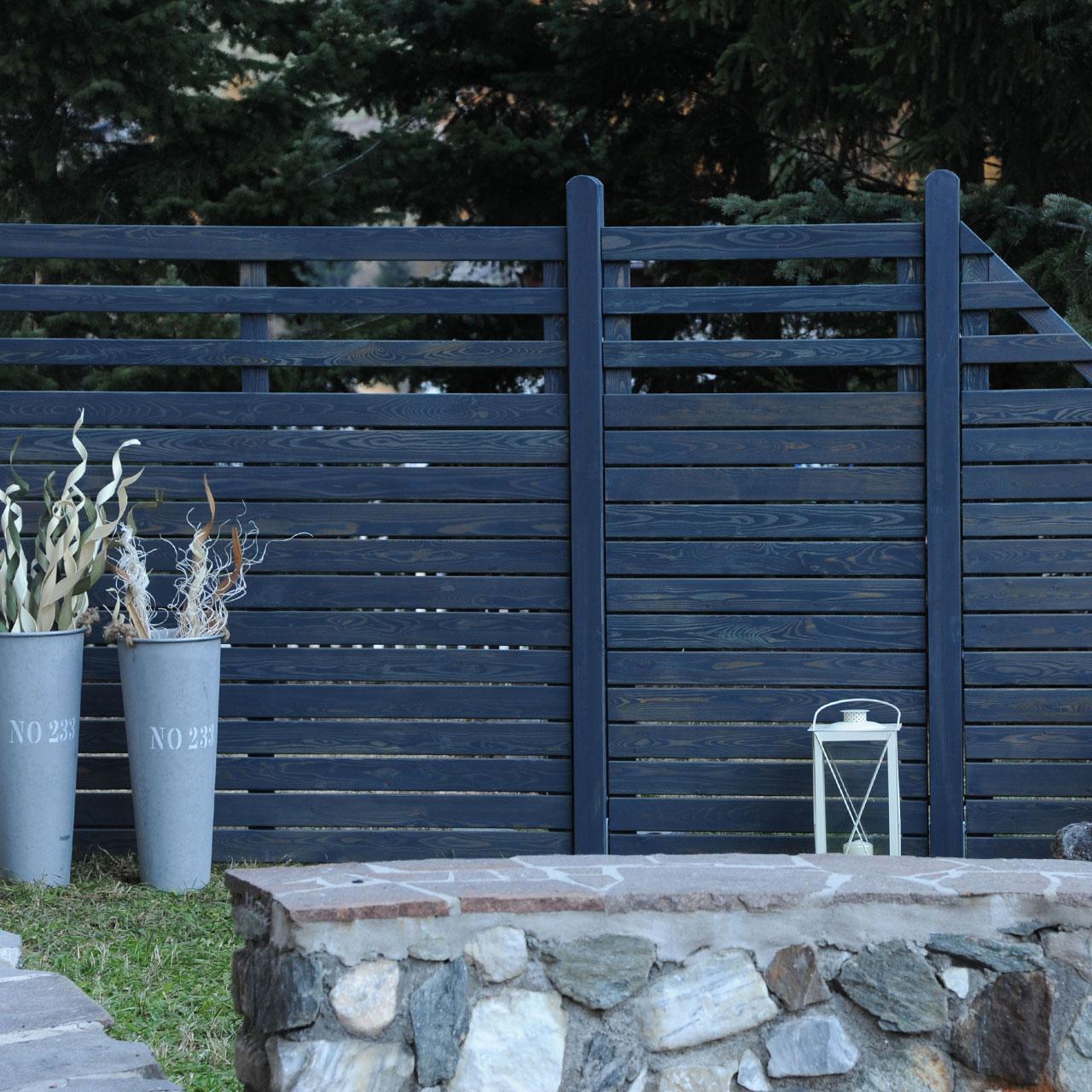 sichtschutzwand hochgebirgs l rche scala graphit grau. Black Bedroom Furniture Sets. Home Design Ideas