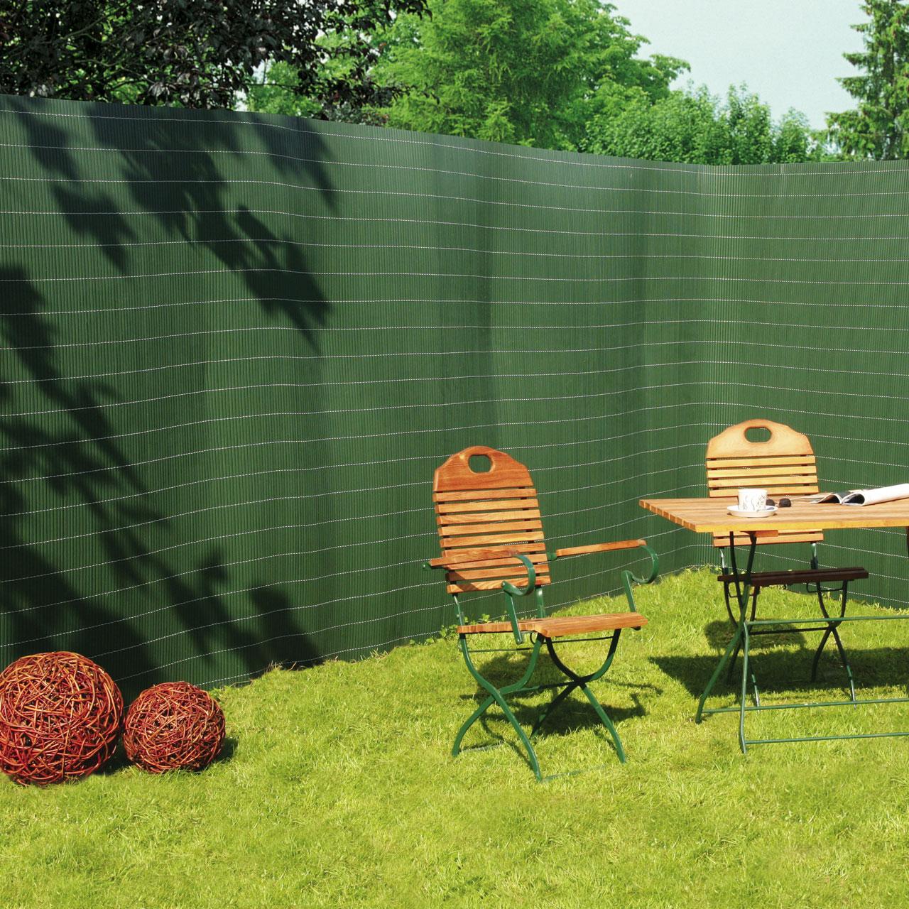 sichtschutzzaun pvc kunststoff montageset r gen gr n sichtschutz. Black Bedroom Furniture Sets. Home Design Ideas
