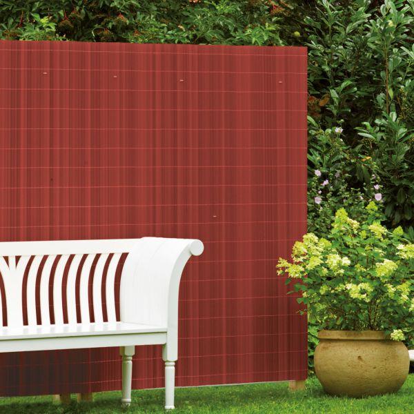 sichtschutzzaun pvc kunststoff montageset r gen kirsch sichtschutz. Black Bedroom Furniture Sets. Home Design Ideas