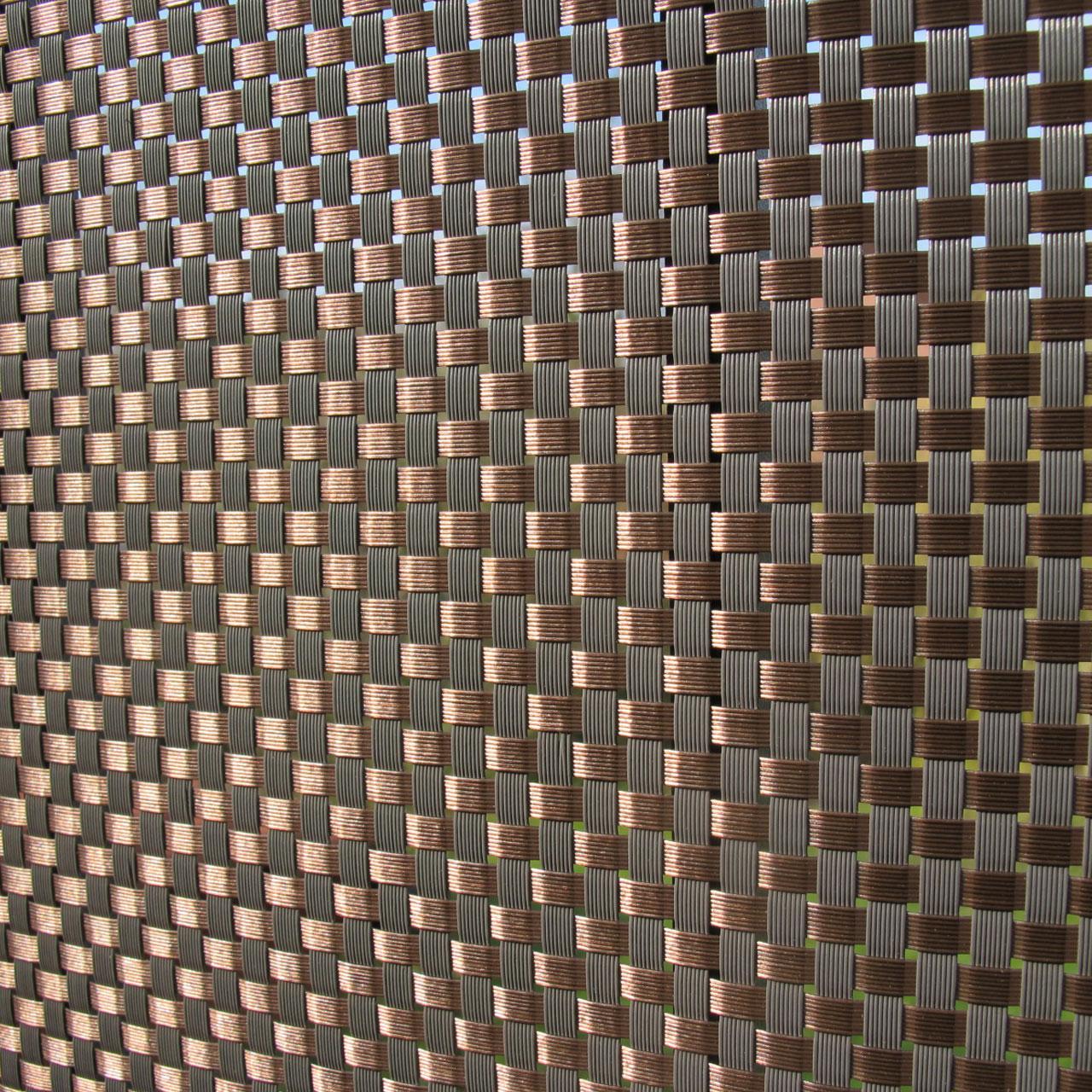 Balkonverkleidung Kunststoffgeflecht Meterware Mocca Anthrazit