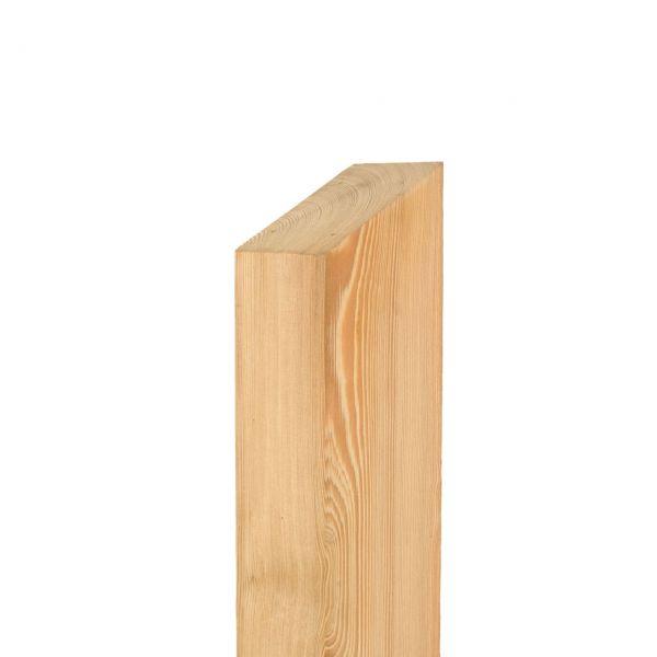 Pfosten Leimholz Lärche 9x9cm, Pult 30° natur