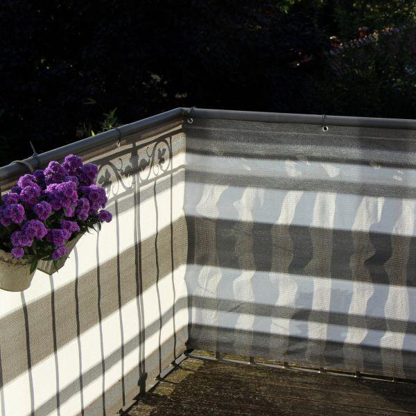 balkonbespannung pe design grau anthrazit sichtschutz. Black Bedroom Furniture Sets. Home Design Ideas