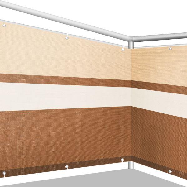 Balkonbespannung PE, Design terrakotta/beige