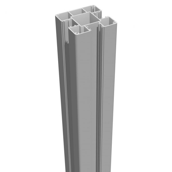 Pfosten 7x7 für Aluminium-Steckzaun LUMINO, silbergrau