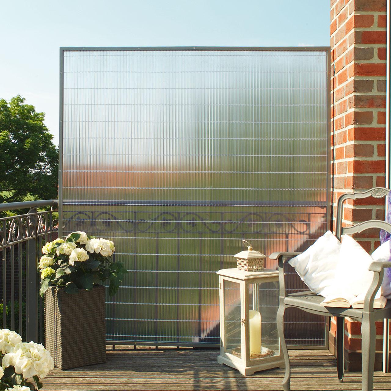 Sichtschutzzaun Pvc Kunststoff Sunline Transparent Sichtschutz Welt De